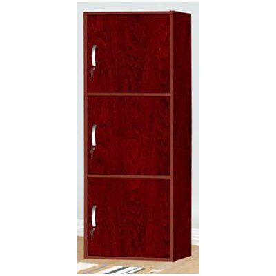 Jumbo 3 Door Accent Cabinet Color: Mahogany