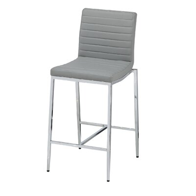 """Lily 26"""" Bar Stool (Set of 2) Upholstery: Grey"""