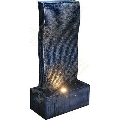 Kingfisher Ripple Wall Water Feature with LED Up Light