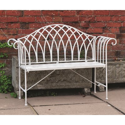 Kingfisher Vintage 2 Seater Steel Bench