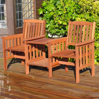 Kingfisher Garden 2 Seater Wooden Love Seat
