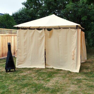 Kingfisher Heavy Duty Garden Gazebo with Side Curtains