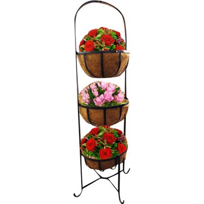 Kingfisher 3 Piece Novelty Stand and Pedestal Planter