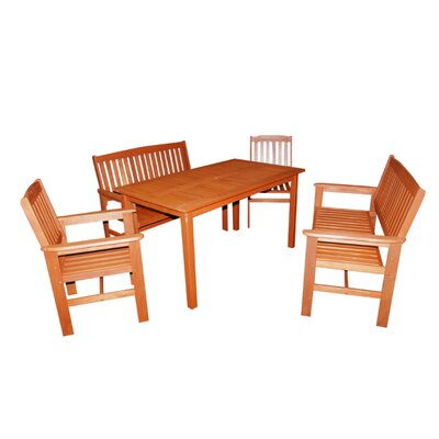 Kingfisher Tropicana 6 Seater Dining Set
