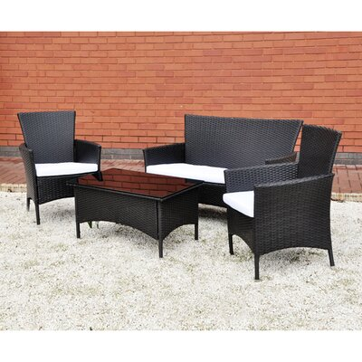 Kingfisher 4 Seater Sofa Set with Cushions