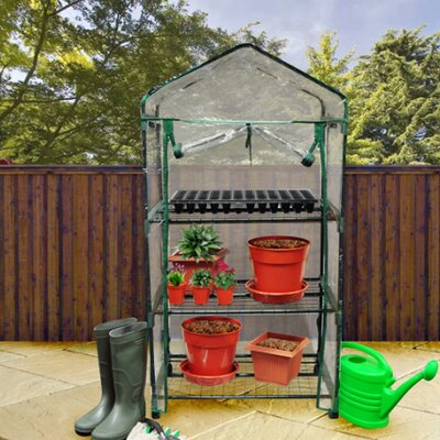 Kingfisher .7m W x .51m D Mini Greenhouse