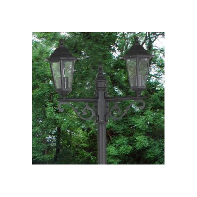 Kingfisher Victorian 2 Light 200cm Post Lantern Set