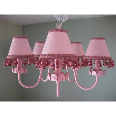 Silly Bear Lighting Mad About Mauve 5 Light Chandelier