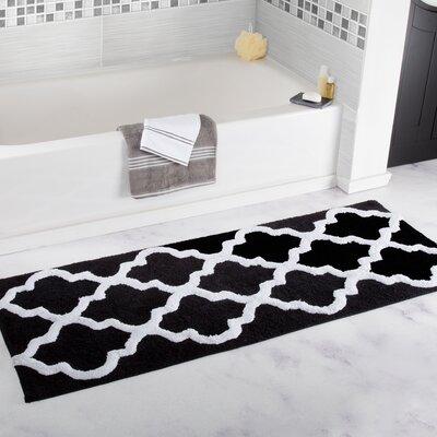 Godmanchester Trellis Cotton Bath Mat Color: Black