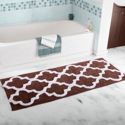 Godmanchester Trellis Cotton Bath Mat Color: Chocolate
