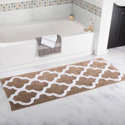 Godmanchester Trellis Cotton Bath Mat Color: Taupe