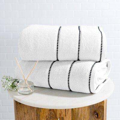 2 Piece 100% Cotton Bath Sheet Set Color: White