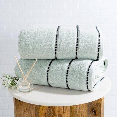 2 Piece 100% Cotton Bath Sheet Set Color: Seafoam