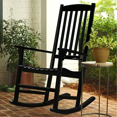 Rajesh Rocking Chair Color: Black