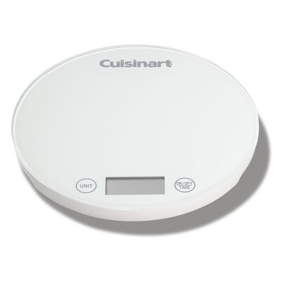 DigiPad Round Digital Kitchen Scale Color: White
