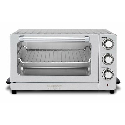 0.6 Cu. Ft. Toaster Oven Broiler with Convection Finish: Stainless Steel