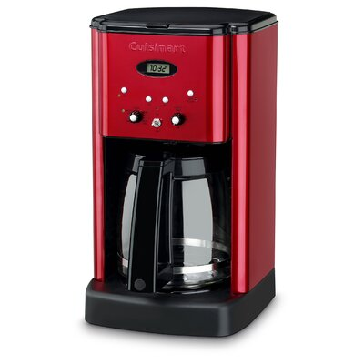 12-Cup Brew Central Programmable Coffee Maker Color: Metallic Red