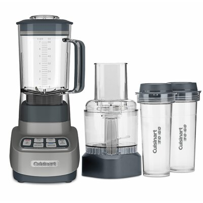 Velocity Ultra Trio 1 HP Blender/Food Processor with Travel Cups Color: Gunmetal
