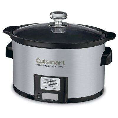 3.5-Qt. Programmable Slow Cooker Color: Brushed Stainless