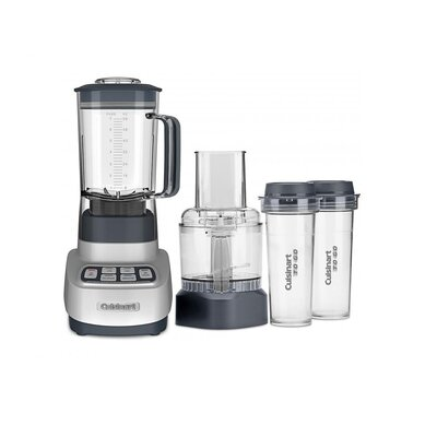Velocity Ultra Trio 1 HP Blender/Food Processor with Travel Cups Color: Silver
