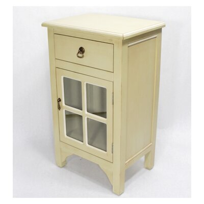 Starboard 1 Drawer Accent Cabinet Color: Beige