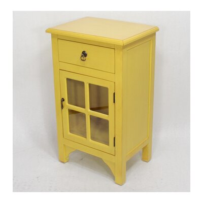 Starboard 1 Drawer Accent Cabinet Color: Yellow