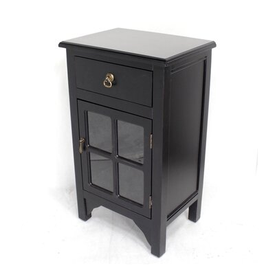 Starboard 1 Drawer Accent Cabinet Color: Black Top