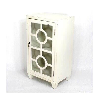 Wooden Accent Cabinet with 1 Door Color: White