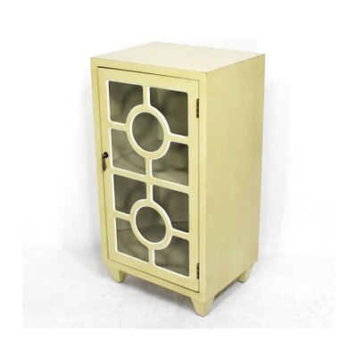 Wooden Accent Cabinet with 1 Door Color: Yellow