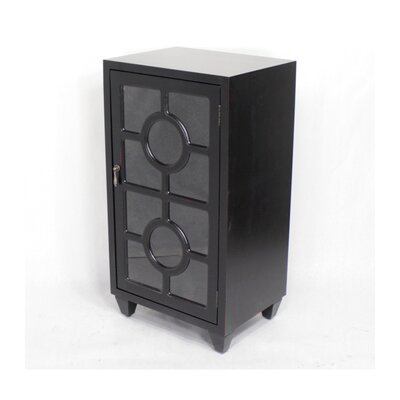 Wooden Accent Cabinet with 1 Door Color: Black