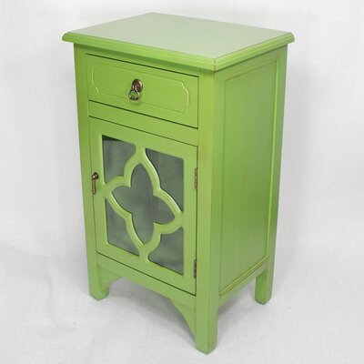 1 Drawer Accent Cabinet Finish: Green