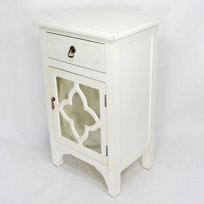 1 Drawer Accent Cabinet Finish: White