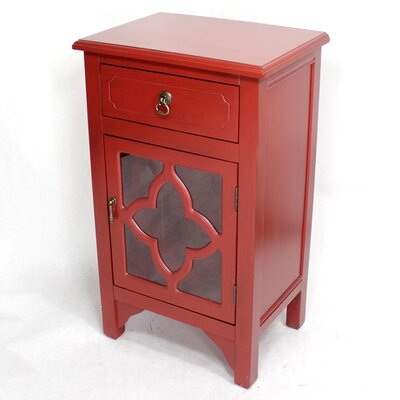 1 Drawer Accent Cabinet Finish: Red