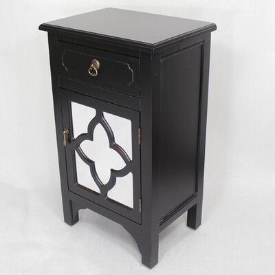 1 Drawer Accent Cabinet Finish: Black