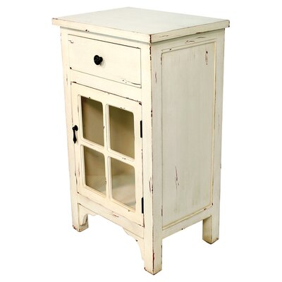 Starboard 1 Drawer Accent Cabinet Color: Antique White