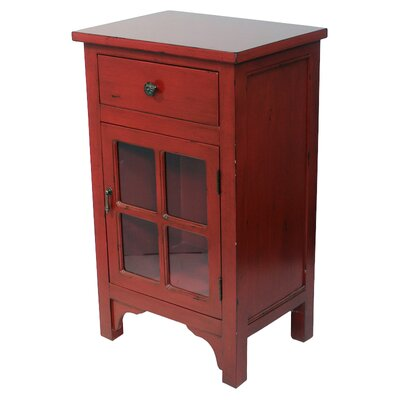 Starboard 1 Drawer Accent Cabinet Color: Red