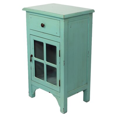 Starboard 1 Drawer Accent Cabinet Color: Tourquoise