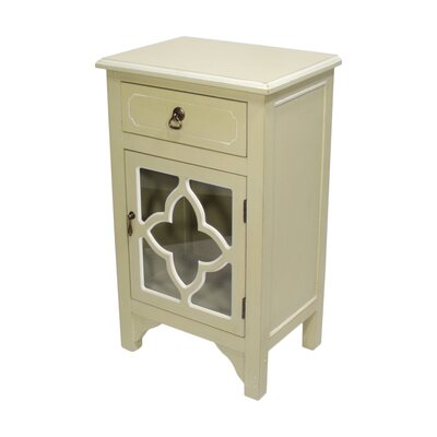 1 Drawer Accent Cabinet Finish: Antique White