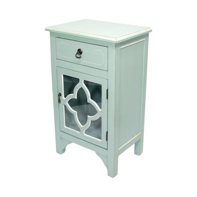 1 Drawer Accent Cabinet Finish: Blue