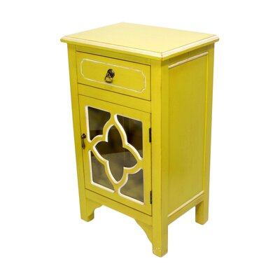 1 Drawer Accent Cabinet Finish: Yellow