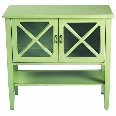 2 Door Console Acccent Cabinet Color: Lite Green