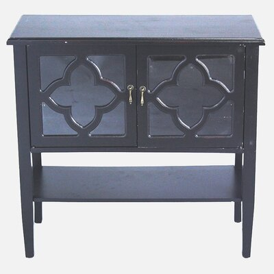2 Door Console Acccent Cabinet Color: Black