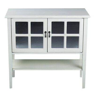 2 Door Console Acccent Cabinet Color: Antique White