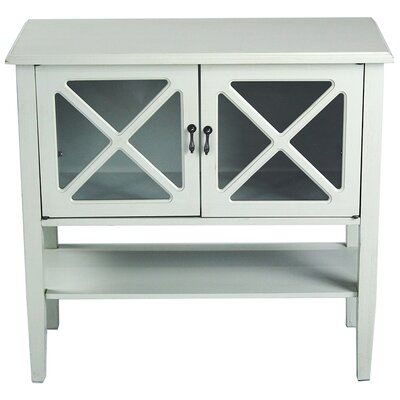 2 Door Console Acccent Cabinet Color: Sea Foam Green