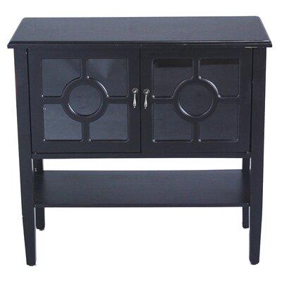 2 Door Console Acccent Cabinet Color: Black