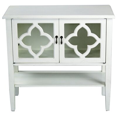 2 Door Console Acccent Cabinet Color: Antique White