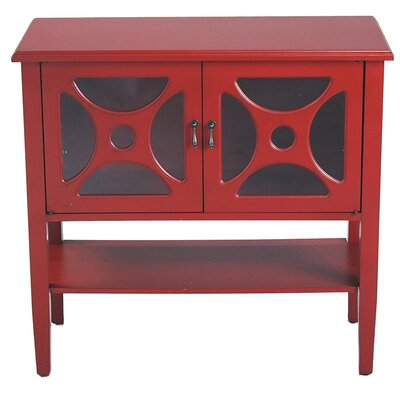 2 Door Console Acccent Cabinet Color: Red
