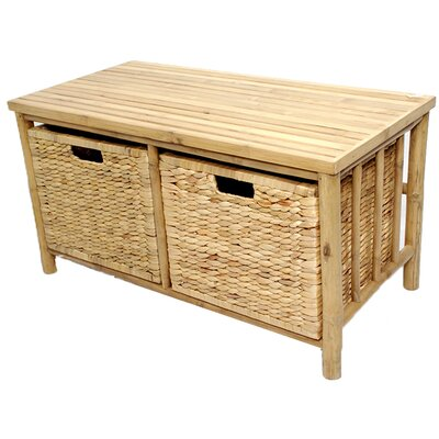 Annapolis Bamboo Storage Bench Color: Natural