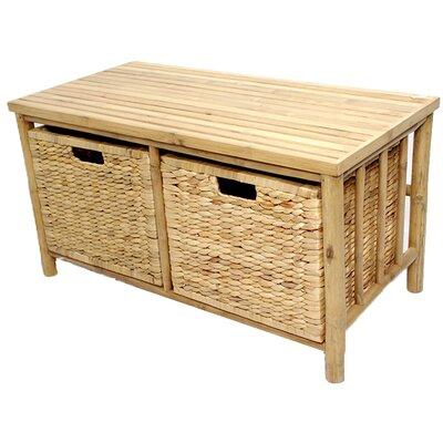 Annapolis Bamboo Storage Bench Color: Natural