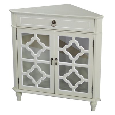 Moretown 1 Drawer 2 Door Accent Cabinet Color: Cream